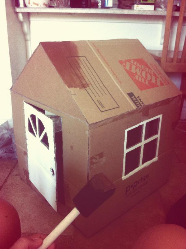 20 Of The Best Free Diy Dog House Plans On The Internet ... Card Board Bedroom Story House Plans Modern on