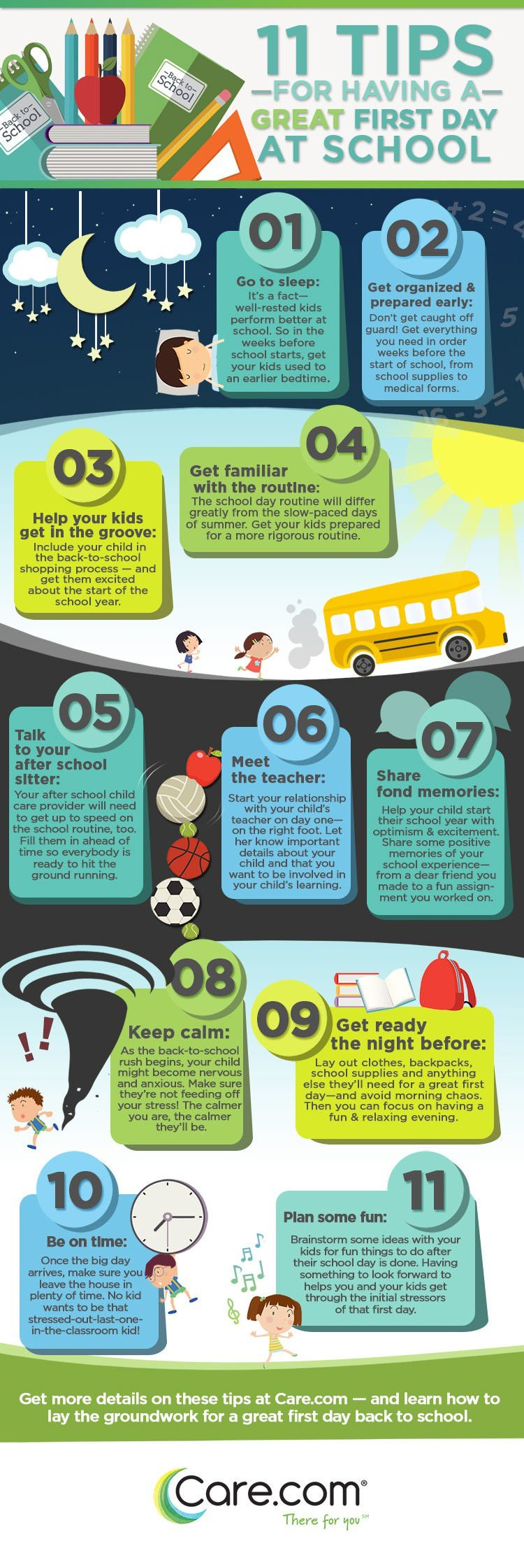 11 Tips For Having A Great First Day Of School Carecom