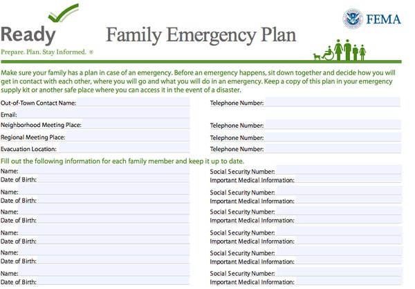 How to create a family communication plan for disasters for Emergency communications plan template