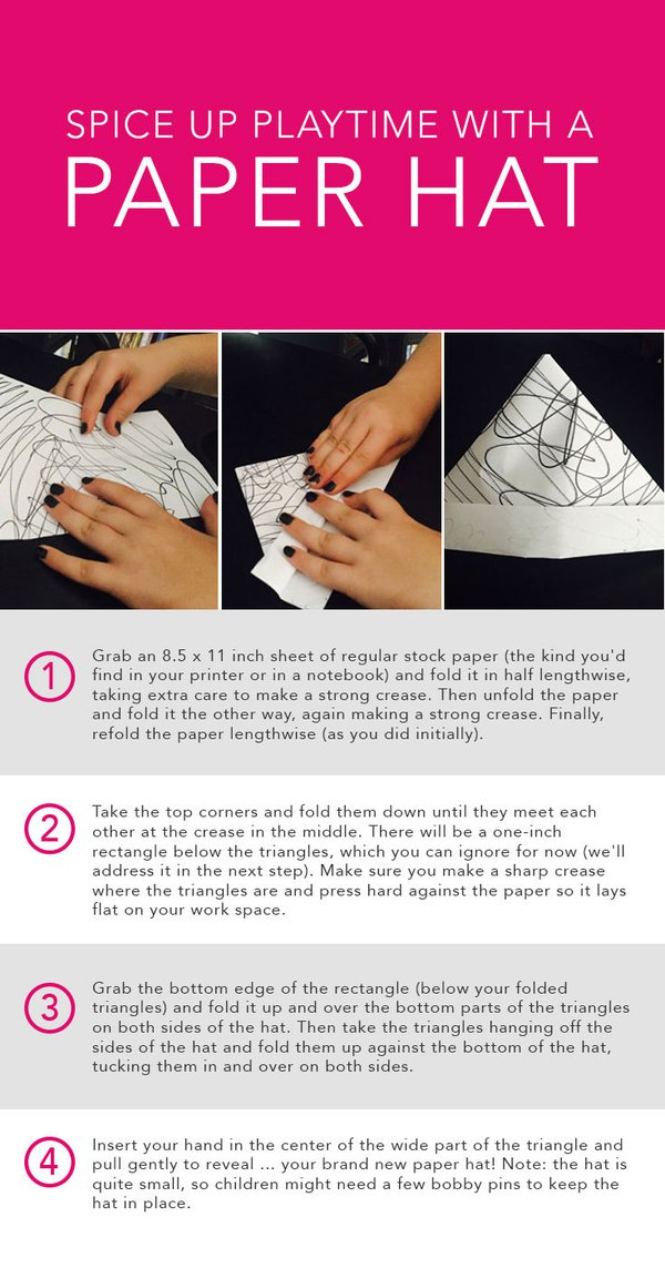 no matter how you do it learning how to make a paper hat is plenty of fun and is a great impromptu activity that doesnt require any prep time and will