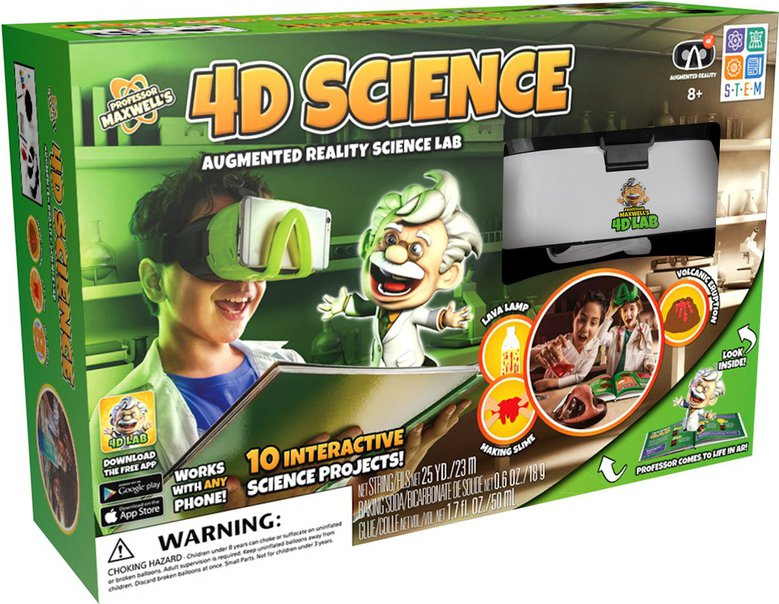 1 Professor Maxwells 4D Science Augmented Reality Lab