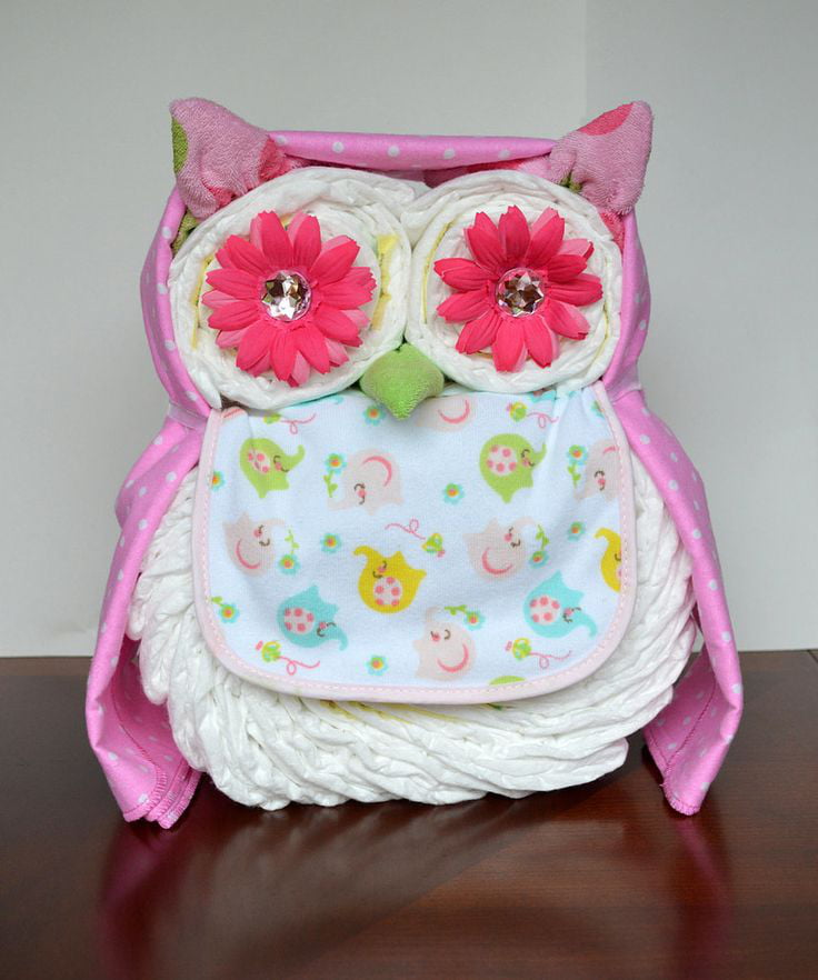 Exceptional Owl Diaper Cake. For Any Baby Shower ...