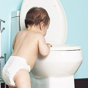 Image result for child staring at toilet