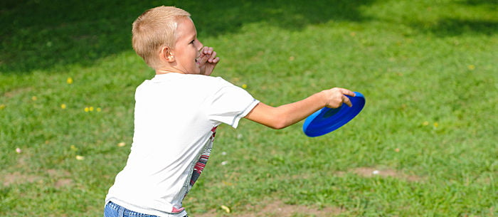 Are Your Kids Bored With Playing The Same Old Soccer Game Try Tossing A Frisbee Plastic Disc Adds Twist To Familiar Games Develops Gross Motor