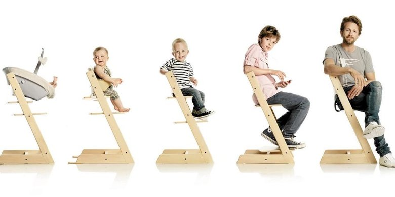The Stokke Tripp Trapp Has A Weight Limit Of 300 Lbs, And They Fully Expect  Adults To Sit On It. Amazing. A Product Tripp Trapp Highchair ...