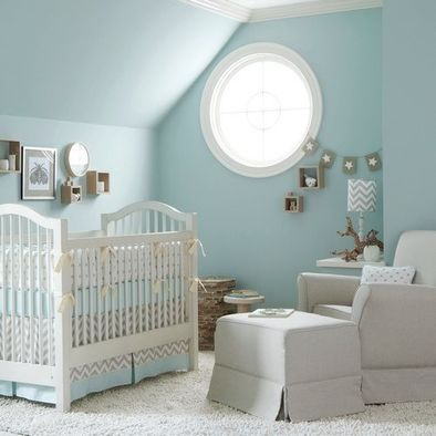 A comfy shag carpet helps soothes tired feet while you rock baby to sleep  -- and gives that soft, cuddly feel. Plus, it aides in a quiet