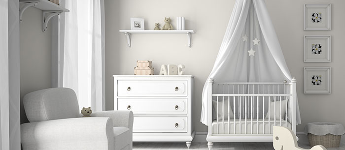 Take a trip to dreamland with these lovely, calming nursery decor ideas.