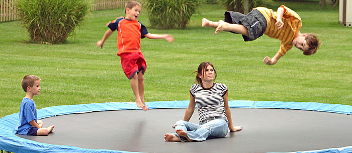 Image result for kid on trampoline