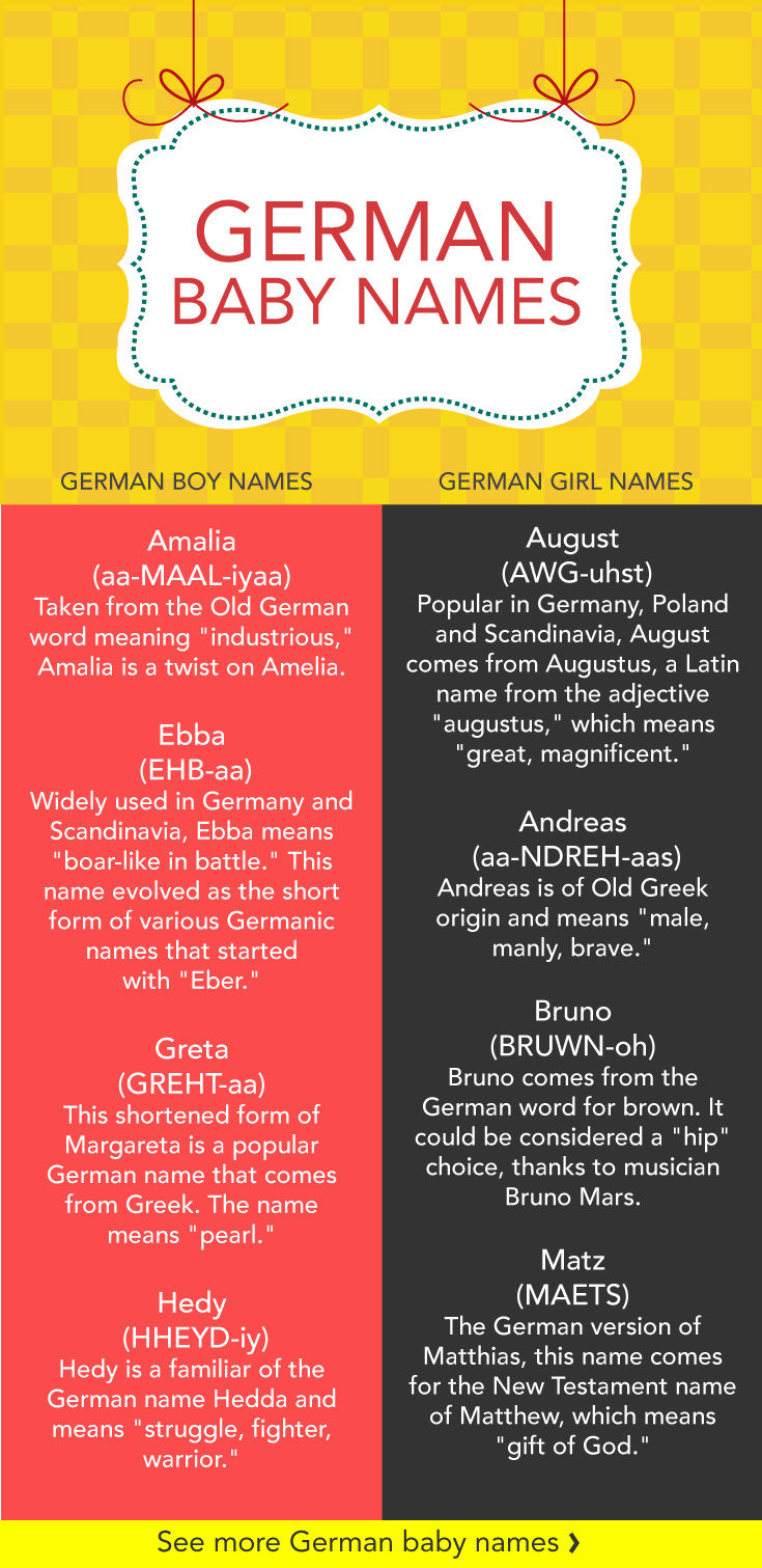 18 German Baby Names