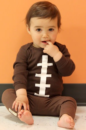 as part of the carecom halloween costume series here is how to go from holding your infant like a football to turning him into one - Infant Football Halloween Costume